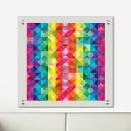Colorful Mosaic Dry Erase Plexiglass Stand Off