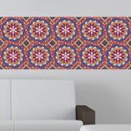 Colorful Floral Mosaic Repeat mural