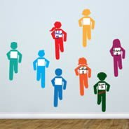 Cool Runners Dry-erase wall stickers