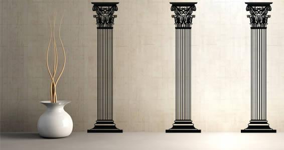 Columns vinyl wall art