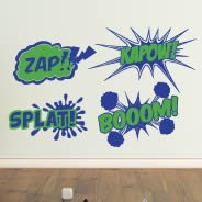 Comic Fun wall decal pack