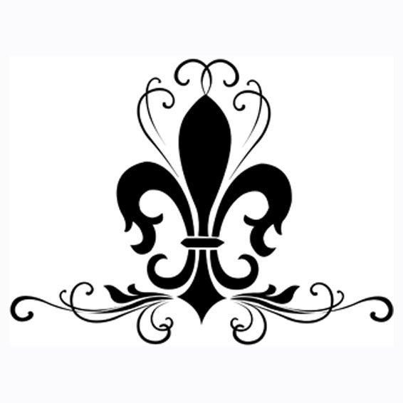 Black fleur de lis logo design male models picture for Flur design