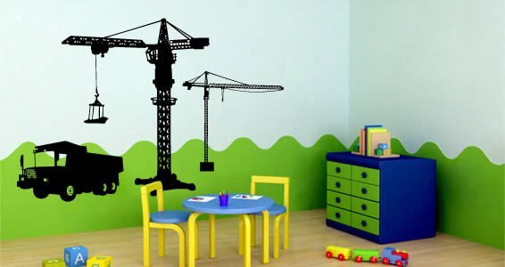 Construction Site wall decals