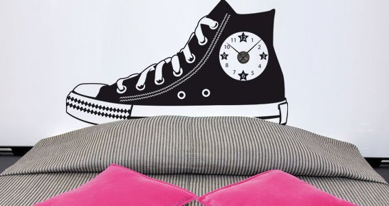 My Giant Shoe Clock wall sticker