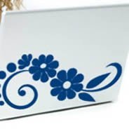 Cool Flower -laptop skin decals