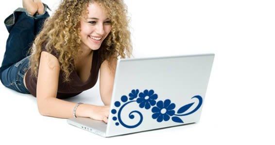 Cool Flower -laptop skin decals