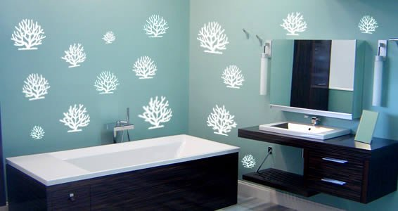 Coral pack wall decals