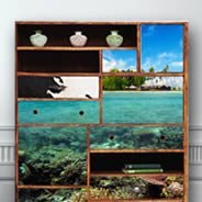 Paradise Island Dry Erase Furniture Skin Decals