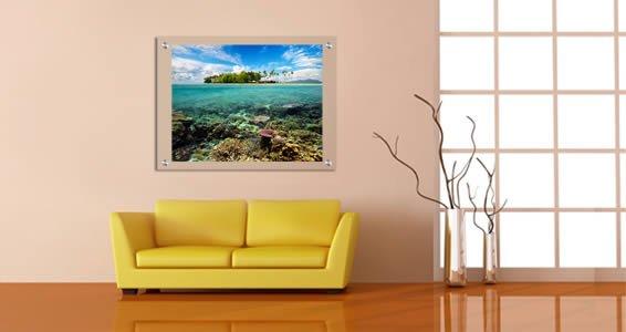 Coral Island Paradise Plexiglass Stand Off