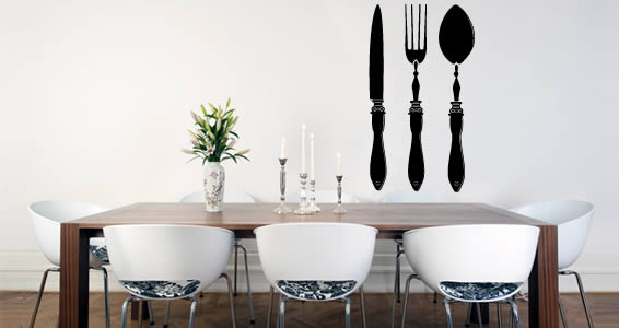 Fine Cutlery wall decals