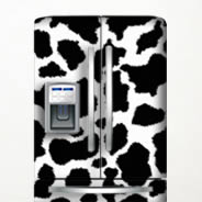 Cow Decals Dry Erase Fridge Skin