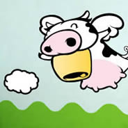 Flying Cow wall stickers by ZaZ