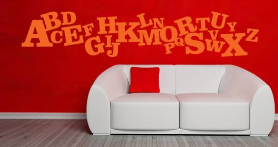 Crazy Alphabet wall decals