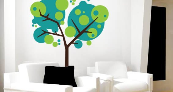 Crazy Bubbly Tree Wall Decals