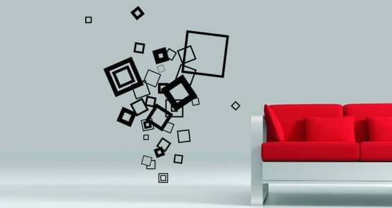 Cool Cubes contemporary wall decals