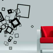Cool Cubes contemporary wall decals Dezign With a Z