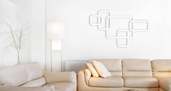 Crazy Square Dots wall appliques