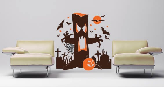 Creepy Tree wall decal