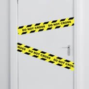 Do Not Cross - Tape wall decals