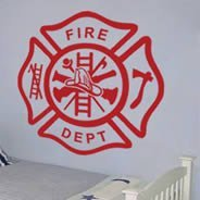 Cross Fireman wall decals