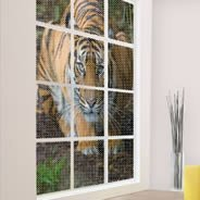 Crouching Tiger see through window decals