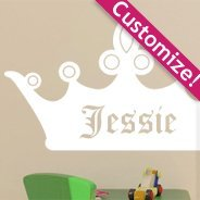 Custom Lettering Crown Wall Decals