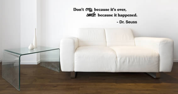 Don't Cry But Smile quote decals
