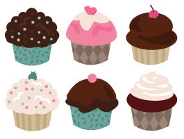 Cupcakes Wall Decals Pack