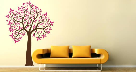 Curly Tree adhesive wall decal
