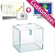 Custom Plexi Ballot Box with Hinges & Lock