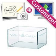 Custom Clear Acrylic Box with Engravings