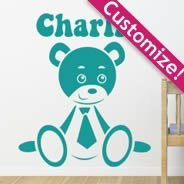 Custom Lettering Baby Bear wall stickers