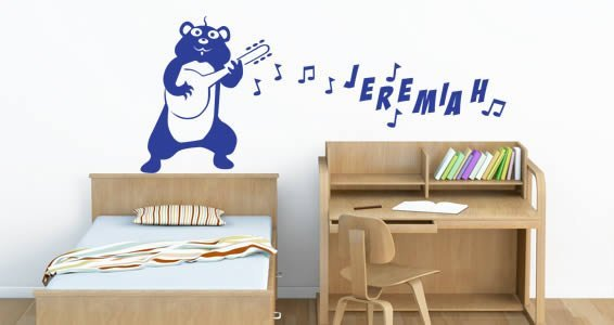Personalized  Lettering Banjo Hamster wall decals