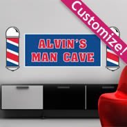 Barbershop personalized wall decals