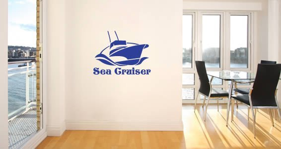 Personalized  Sail Boat wall stickers