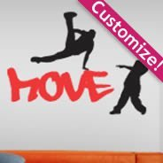 Personalized Lettering Breakdancers stickers
