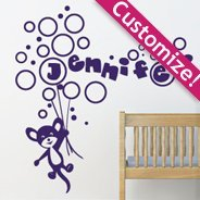 Custom Lettering Bubble Mouse wall decals