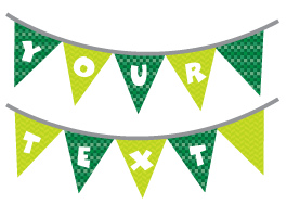 Custom Bunting Fiesta Flag Stickers
