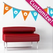 Personalized Bunting Fiesta Flag Stickers
