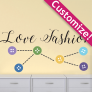 Custom Button thread wall decal