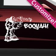 Custom Car Oueche Pelo decals