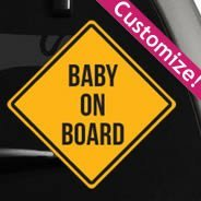 Custom Caution Sign Car Decal