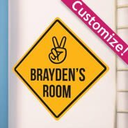 Personalized  Caution Sign wall Stickers