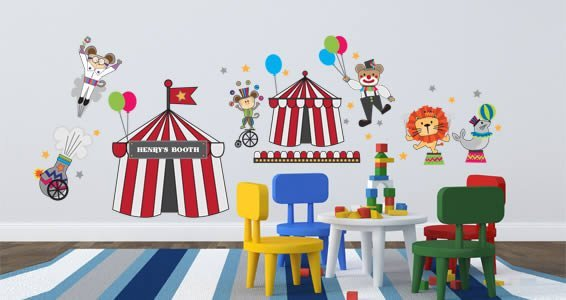 Custom Circus Show pack wall decals