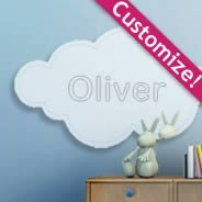 Custom Lettering Cloud Mirror