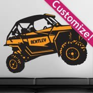Custom Dune Buggy wall decals