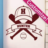 Custom Baseball team wall decals