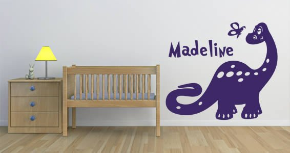 Custom Lettering Dean The Dino wall sticker