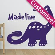 Custom Lettering Dean The Dino wall stickers