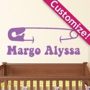 Custom Diaper Pin wall decals